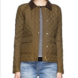 J Crew quilted tack jacket tall medium MT barn